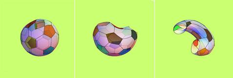 Мяч превращается в тор...